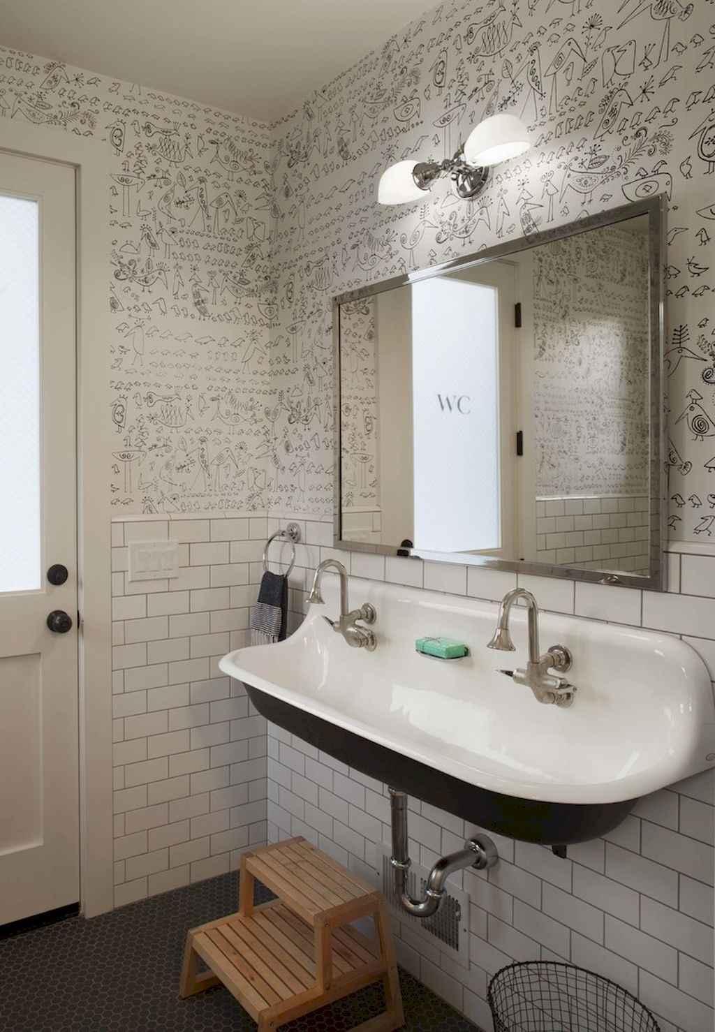 110 Best Farmhouse Bathroom Decor Ideas (189)