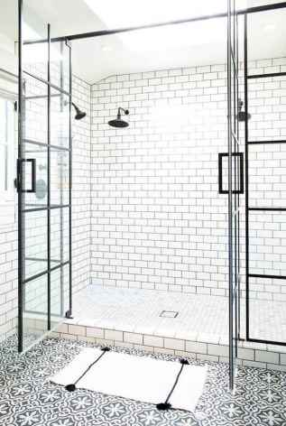 80 Awesome Farmhouse Tile Shower Decor Ideas (81)