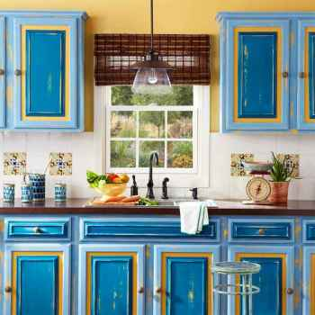Top 40 Colorful Kitchen Cabinet Remodel Ideas For First Apartment (20)