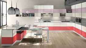 Top 40 Colorful Kitchen Cabinet Remodel Ideas For First Apartment (22)
