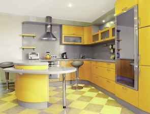 Top 40 Colorful Kitchen Cabinet Remodel Ideas For First Apartment (24)