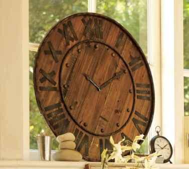 33 Best Industrial Farmhouse Clock Design Ideas (25)