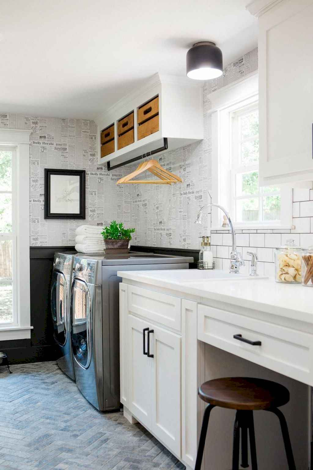 45 Rustic Farmhouse Laundry Room Design Ideas and Makeover (11)