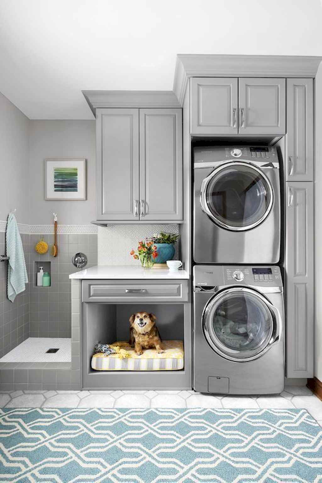 45 Rustic Farmhouse Laundry Room Design Ideas and Makeover (15)