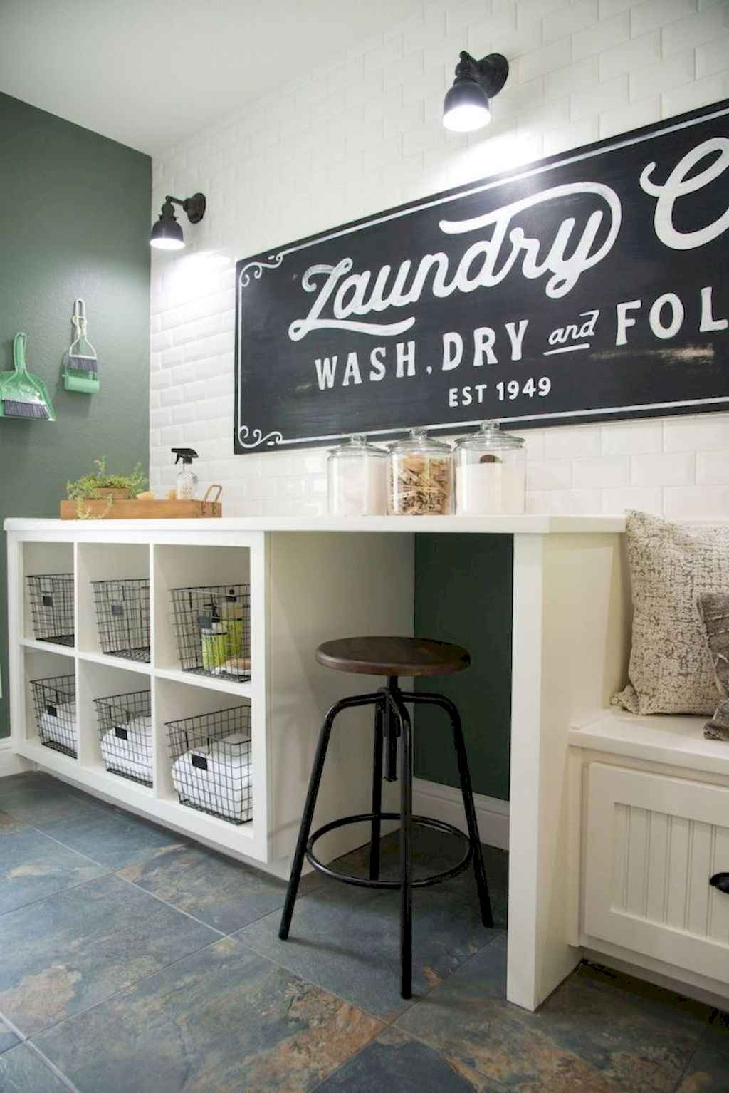 45 Rustic Farmhouse Laundry Room Design Ideas and Makeover (16)