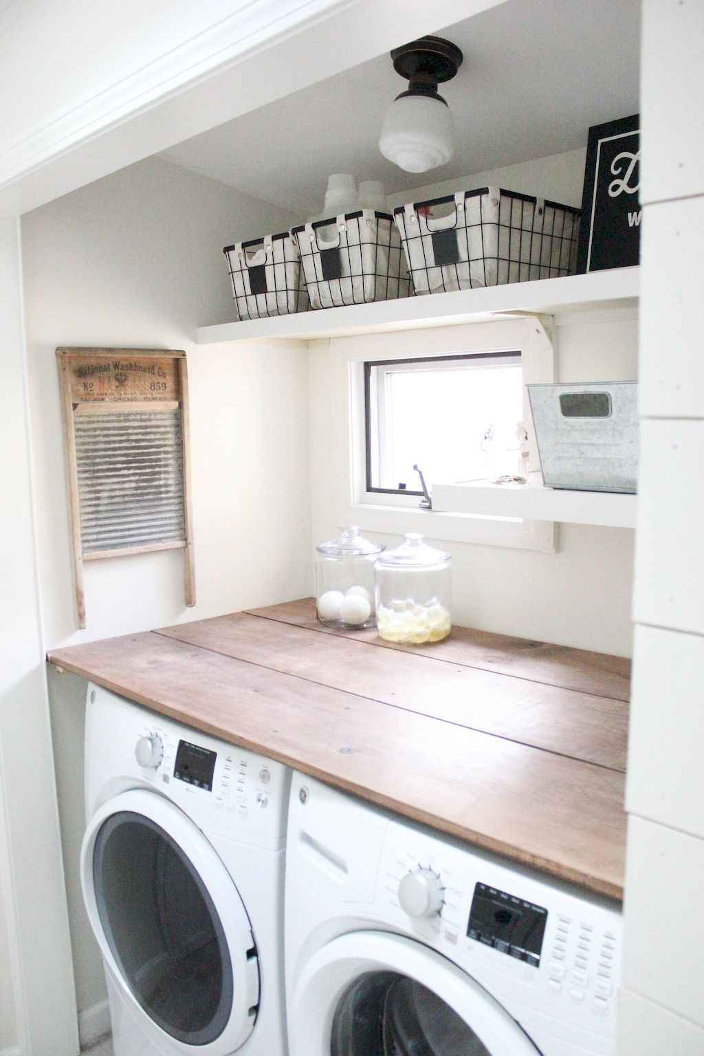 45 Rustic Farmhouse Laundry Room Design Ideas and Makeover (3)