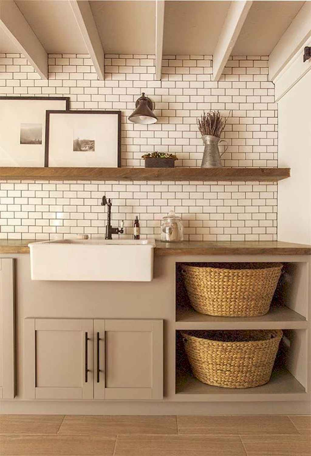 45 Rustic Farmhouse Laundry Room Design Ideas and Makeover (39)