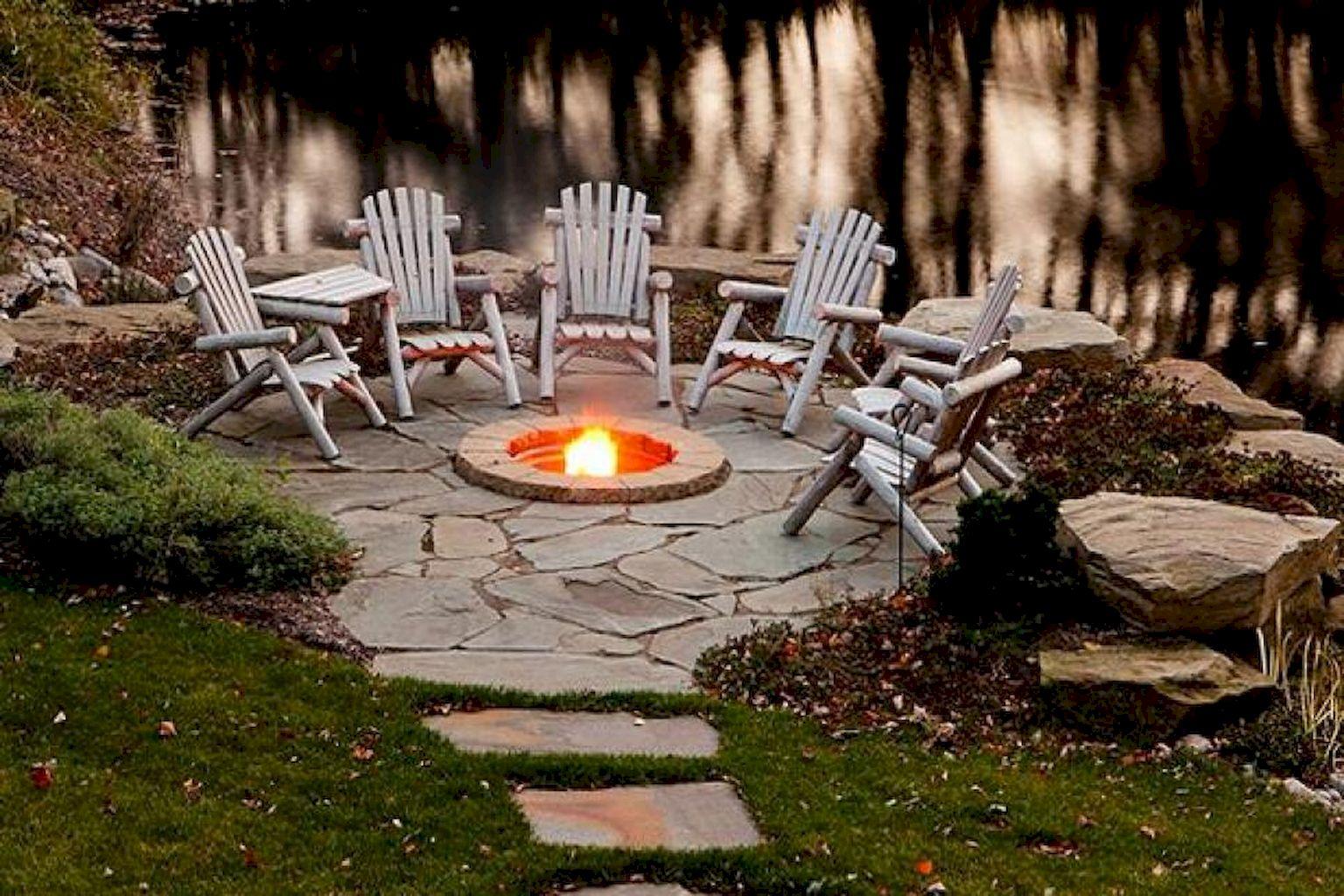 60 Beautiful Backyard Fire Pit Ideas Decoration and Remodel (4)