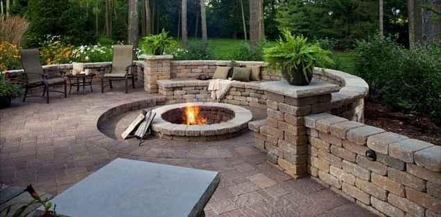 60 Beautiful Backyard Fire Pit Ideas Decoration and Remodel (47)