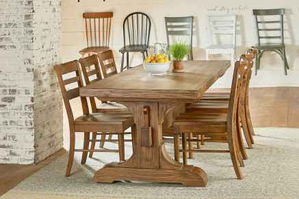 60 Rustic Farmhouse Dining Room Table Decor Ideas and Makeover (14)