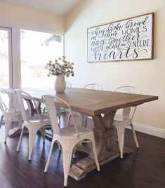 60 Rustic Farmhouse Dining Room Table Decor Ideas and Makeover (16)