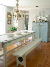 60 Rustic Farmhouse Dining Room Table Decor Ideas and Makeover (18)