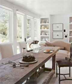 60 Rustic Farmhouse Dining Room Table Decor Ideas and Makeover (21)