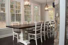 60 Rustic Farmhouse Dining Room Table Decor Ideas and Makeover (28)
