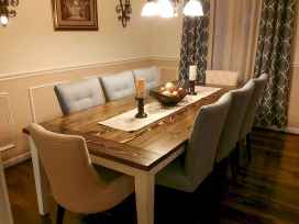 60 Rustic Farmhouse Dining Room Table Decor Ideas and Makeover (29)