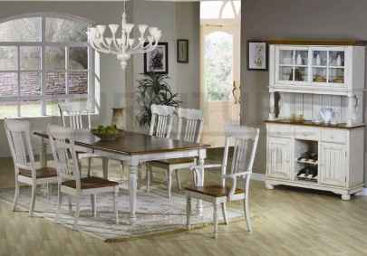 60 Rustic Farmhouse Dining Room Table Decor Ideas and Makeover (32)