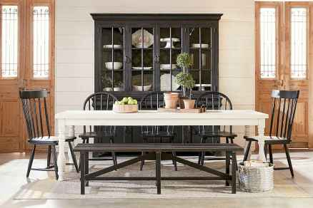 60 Rustic Farmhouse Dining Room Table Decor Ideas and Makeover (35)