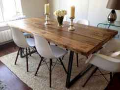 60 Rustic Farmhouse Dining Room Table Decor Ideas and Makeover (39)