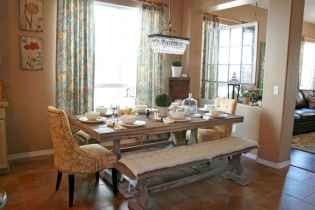 60 Rustic Farmhouse Dining Room Table Decor Ideas and Makeover (42)