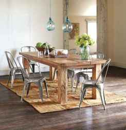 60 Rustic Farmhouse Dining Room Table Decor Ideas and Makeover (49)