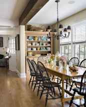 60 Rustic Farmhouse Dining Room Table Decor Ideas and Makeover (5)