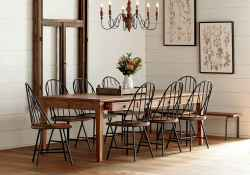 60 Rustic Farmhouse Dining Room Table Decor Ideas and Makeover (52)