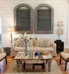 70 Rustic Farmhouse Living Room Decor Ideas (30)
