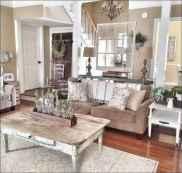 70 Rustic Farmhouse Living Room Decor Ideas (48)