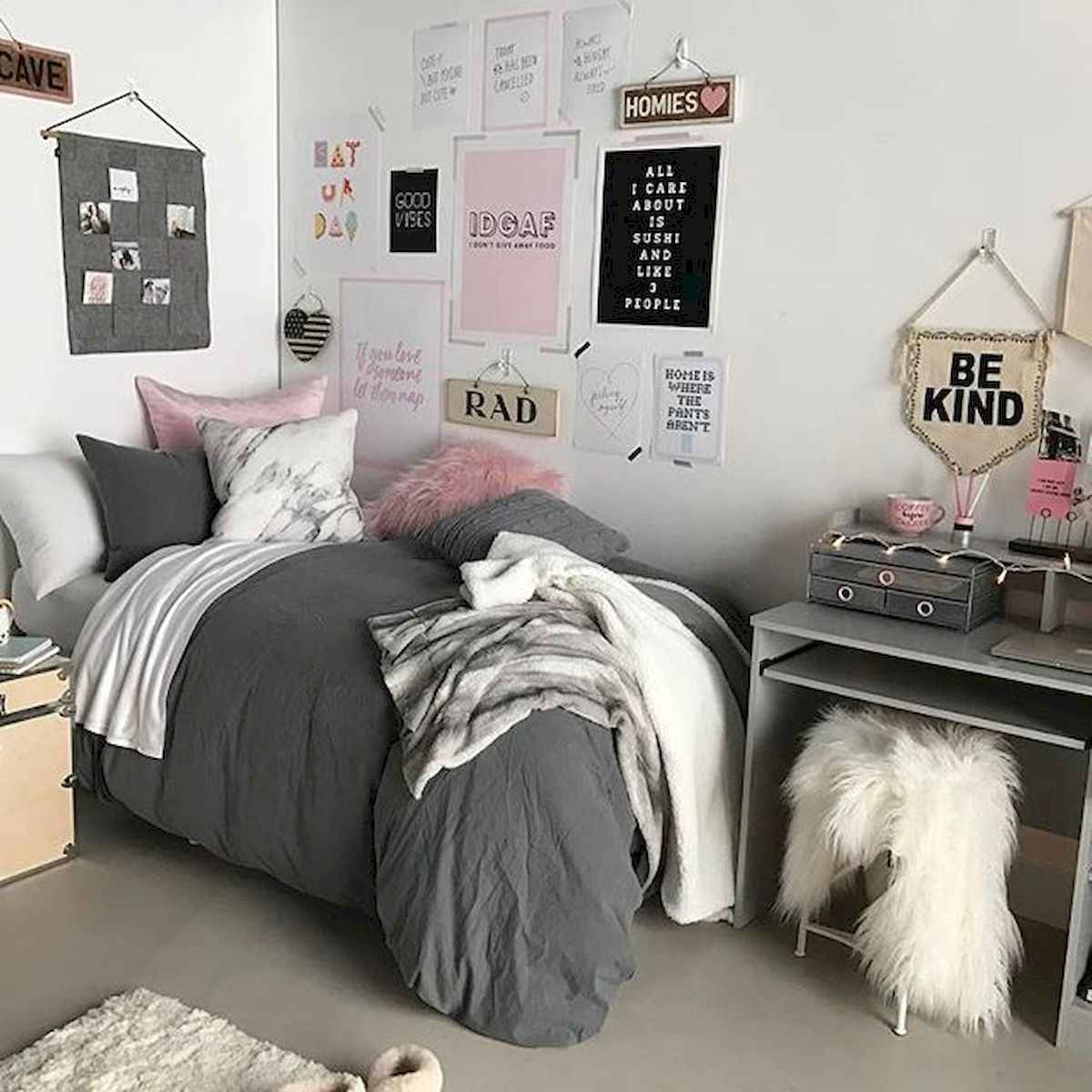 60 Gorgeous College Dorm Room Decorating Ideas And Makeover (29)