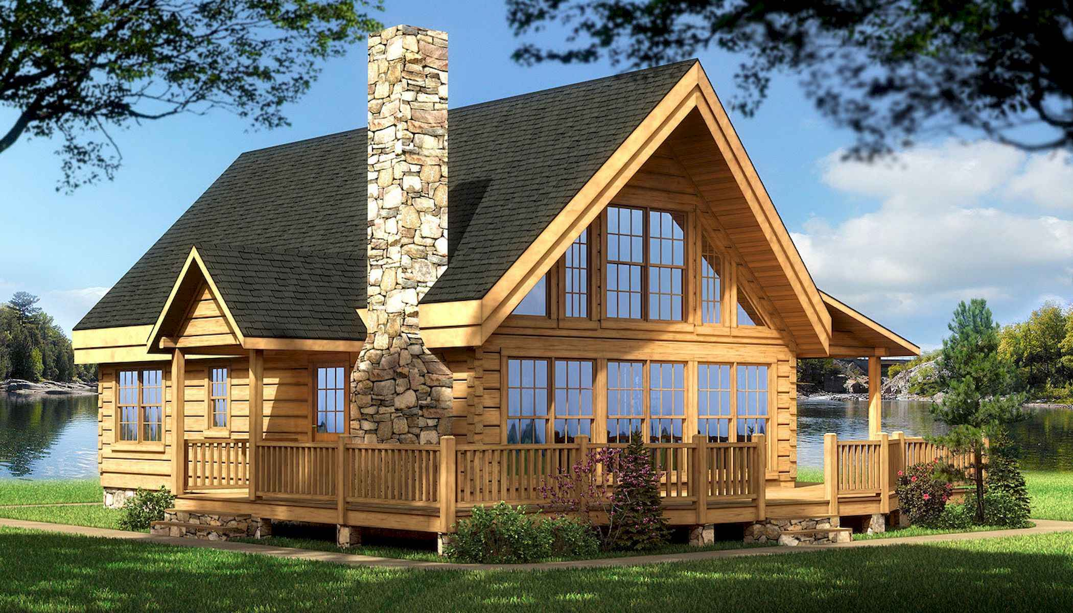 60 Rustic Log Cabin Homes Plans Design Ideas And Remodel (17)
