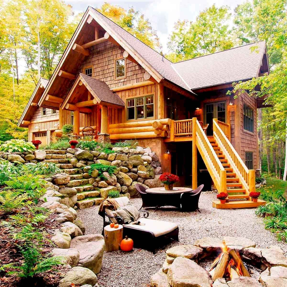 60 Rustic Log Cabin Homes Plans Design Ideas And Remodel (31)