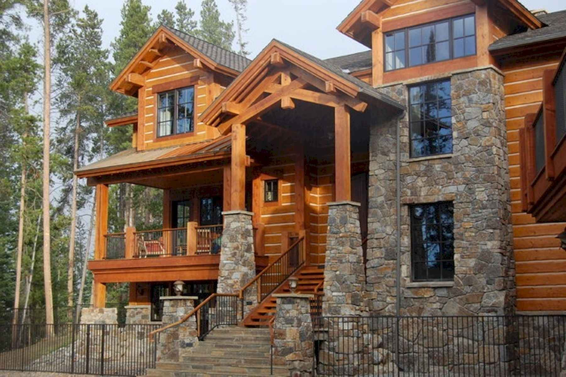 60 Rustic Log Cabin Homes Plans Design Ideas And Remodel (48)