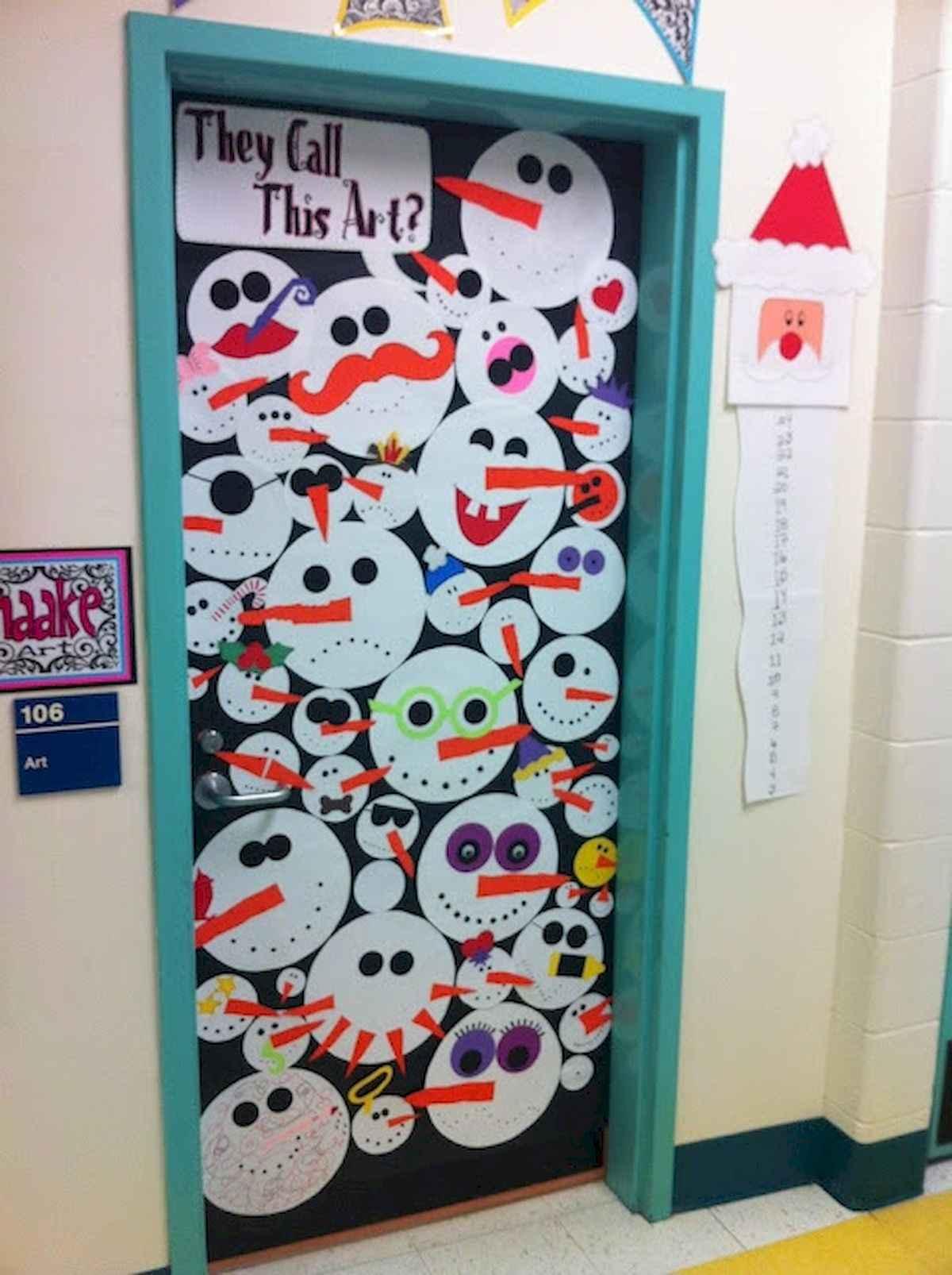 40 Creative DIY Christmas Door Decorations For Home And School (41) & 40 Creative DIY Christmas Door Decorations For Home And School ...