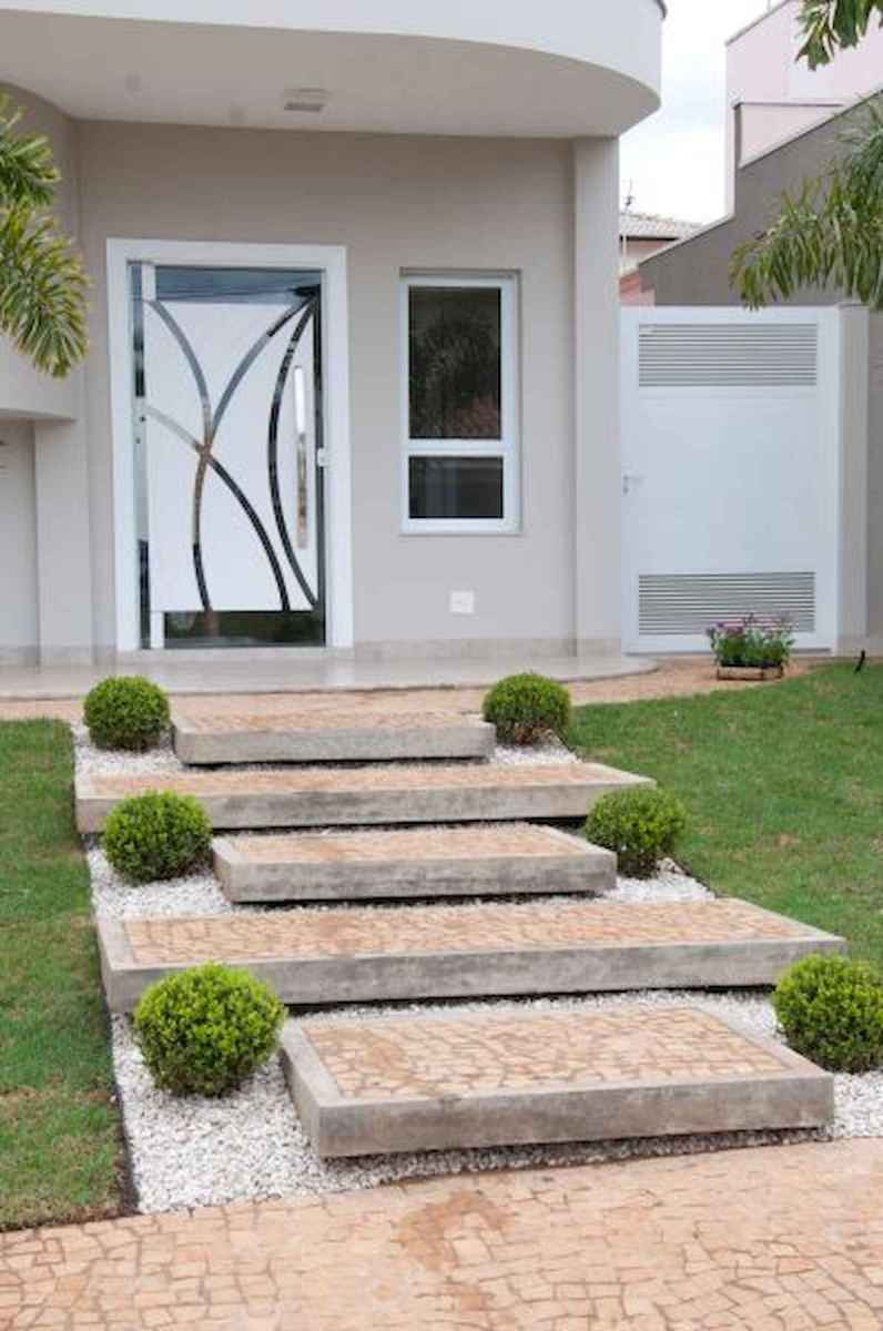 90 Simple and Beautiful Front Yard Landscaping Ideas on A Budget (70)