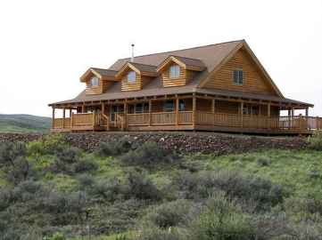 40 Stunning Log Cabin Homes Plans One Story Design Ideas (17)