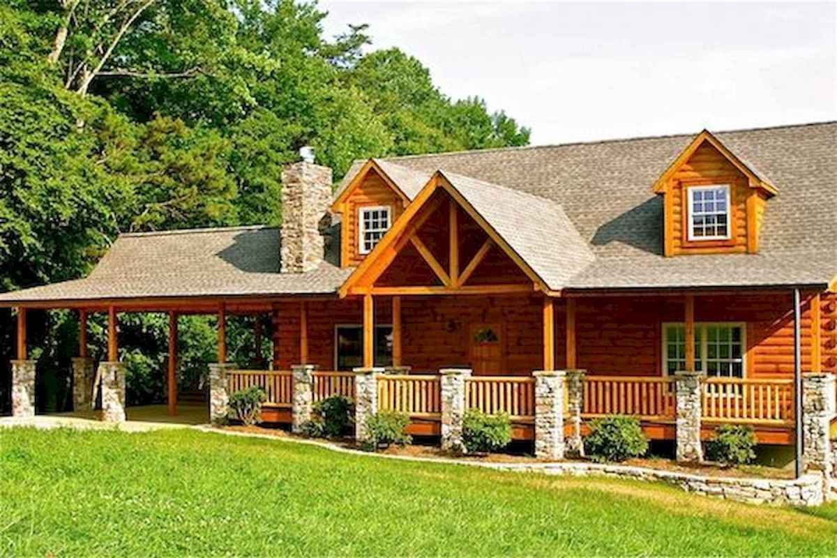 40 Stunning Log Cabin Homes Plans One Story Design Ideas (25)