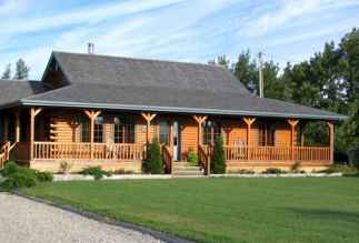 40 Stunning Log Cabin Homes Plans One Story Design Ideas (27)