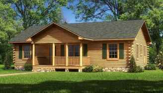 40 Stunning Log Cabin Homes Plans One Story Design Ideas (31)