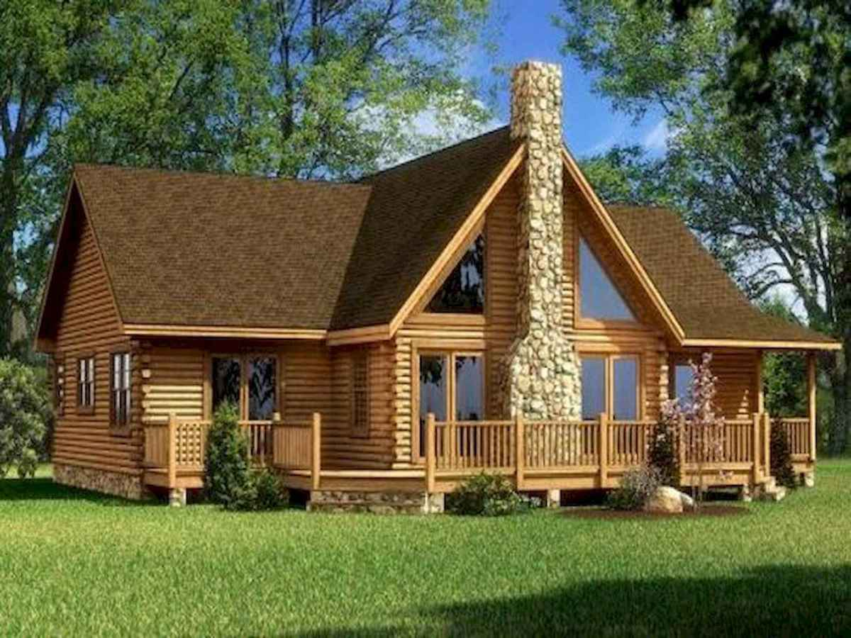 40 Stunning Log Cabin Homes Plans One Story Design Ideas (35)