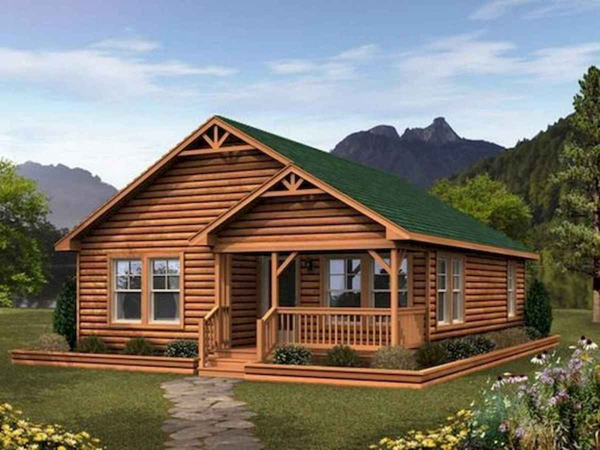 40 Stunning Log Cabin Homes Plans One Story Design Ideas (39)