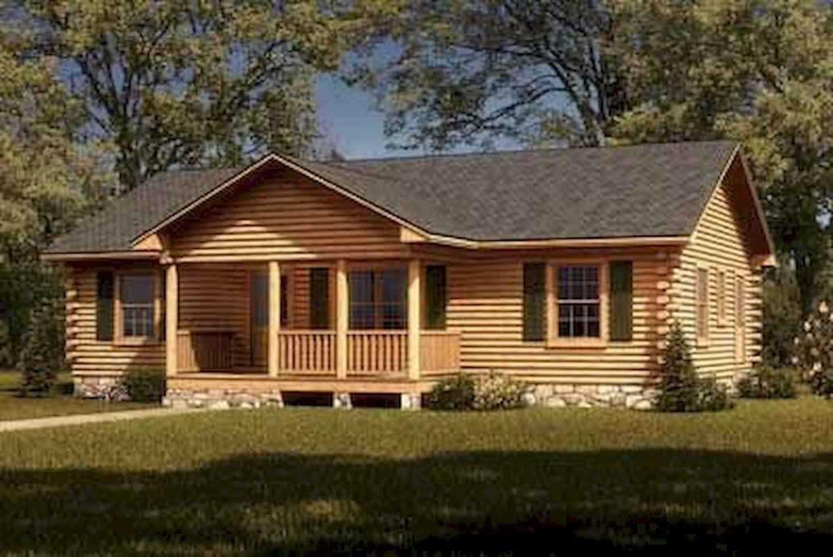 40 Stunning Log Cabin Homes Plans One Story Design Ideas (43)