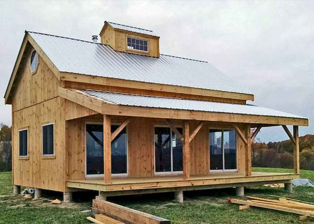 40 Stunning Log Cabin Homes Plans One Story Design Ideas (5)