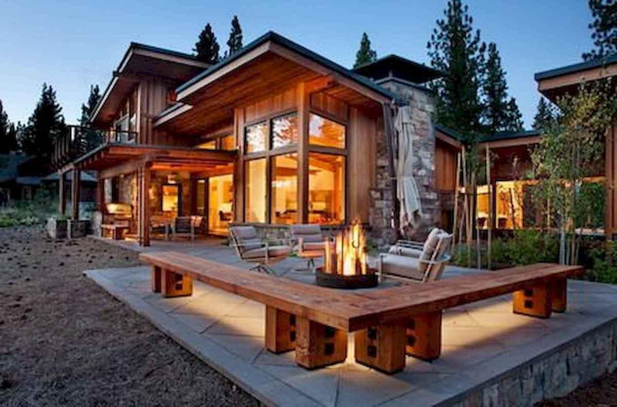 50 Incredible Log Cabin Homes Modern Design Ideas (36)