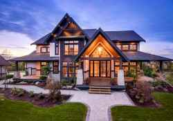 50 Incredible Log Cabin Homes Modern Design Ideas (38)