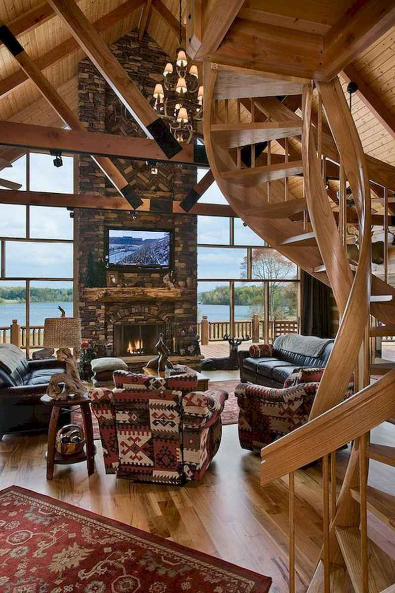 50 Incredible Log Cabin Homes Modern Design Ideas (52)