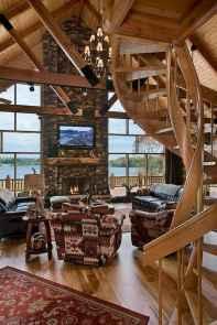 50 Incredible Log Cabin Homes Modern Design Ideas (52)