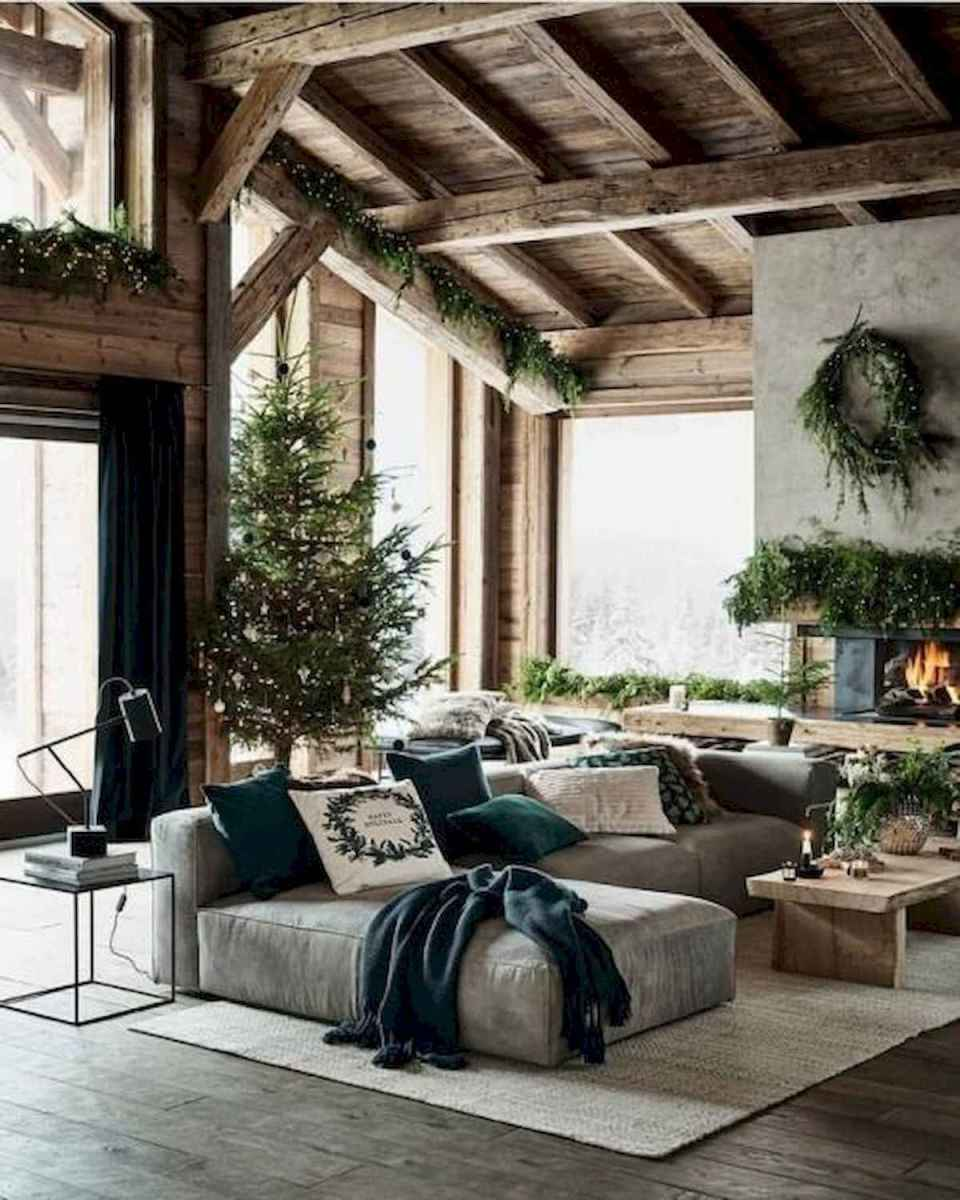 60 Awesome Log Cabin Homes Fireplace Design Ideas (44)