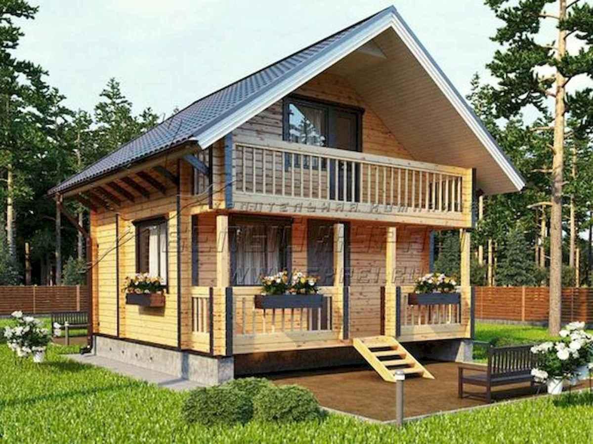 70 Suprising Small Log Cabin Homes Design Ideas (12)