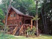 70 Suprising Small Log Cabin Homes Design Ideas (3)
