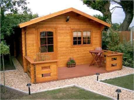 70 Suprising Small Log Cabin Homes Design Ideas (41)